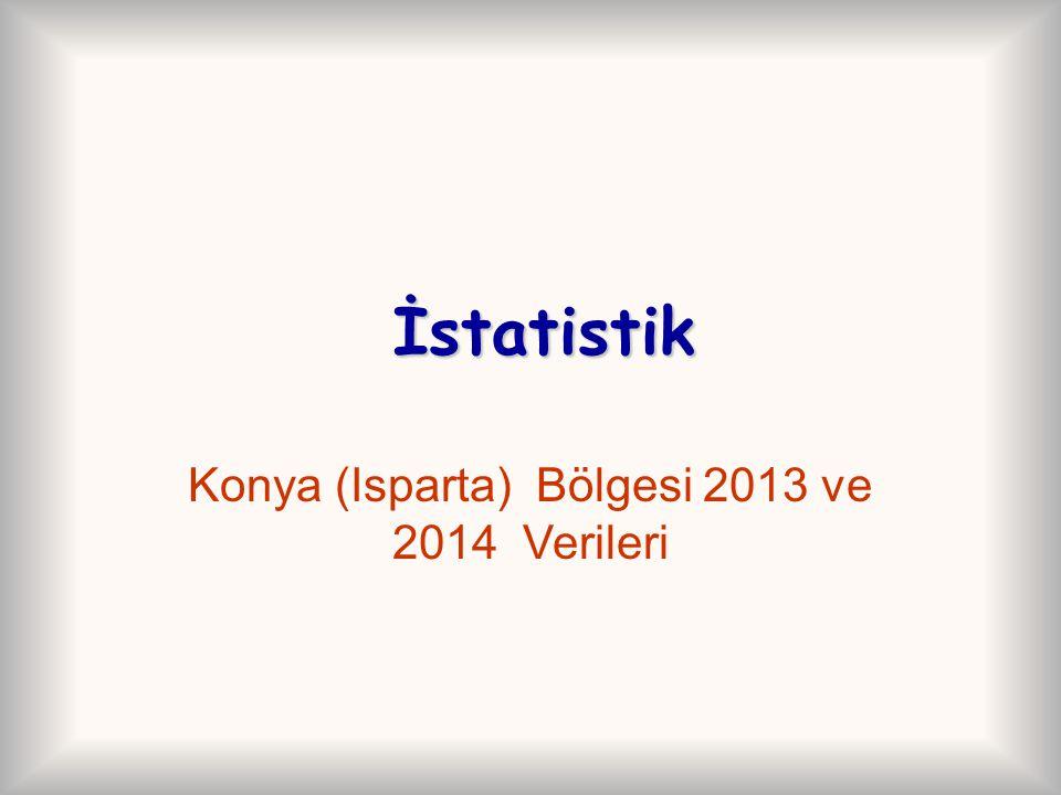 Konya (Isparta) Bölgesi 2013 ve 2014 Verileri