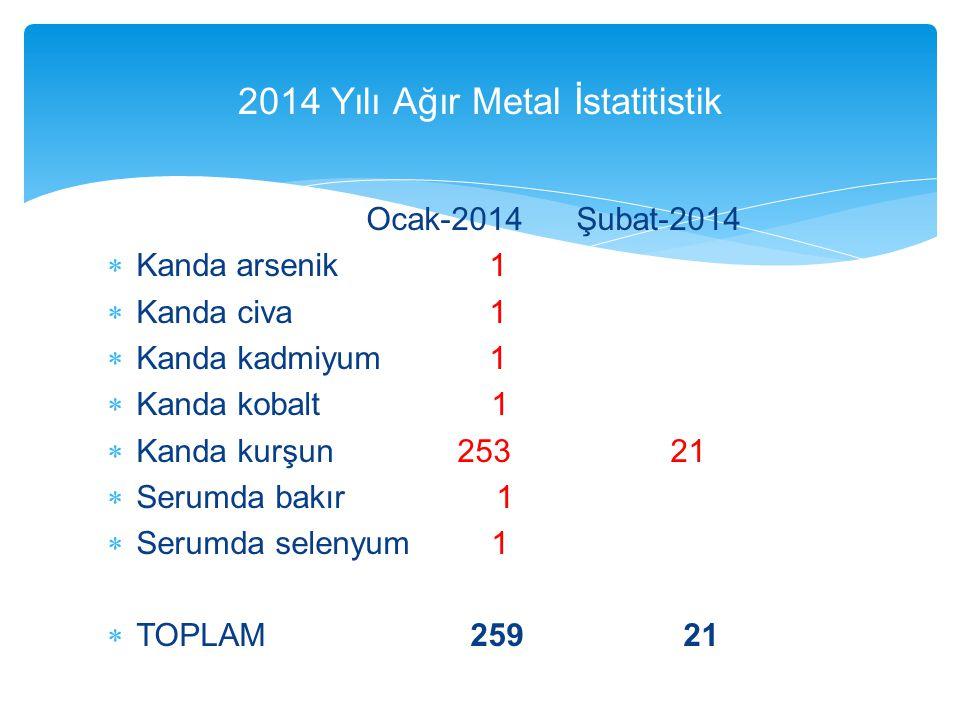 2014 Yılı Ağır Metal İstatitistik