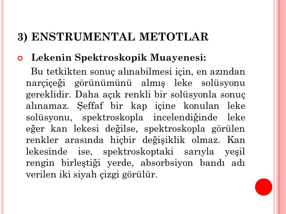 3) ENSTRUMENTAL METOTLAR