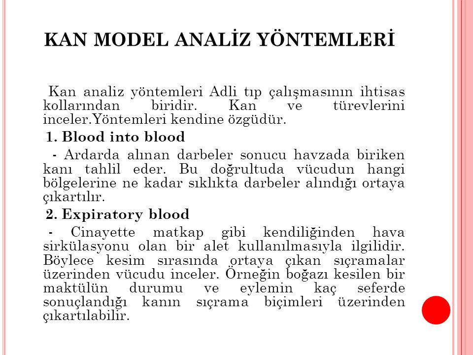 KAN MODEL ANALİZ YÖNTEMLERİ