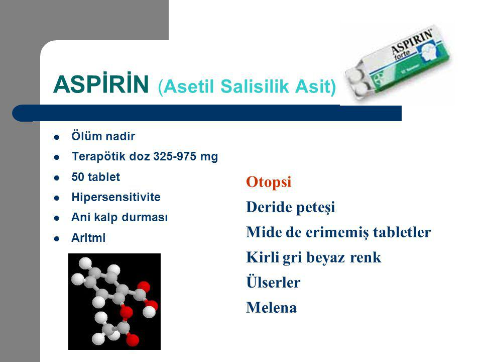 ASPİRİN (Asetil Salisilik Asit)