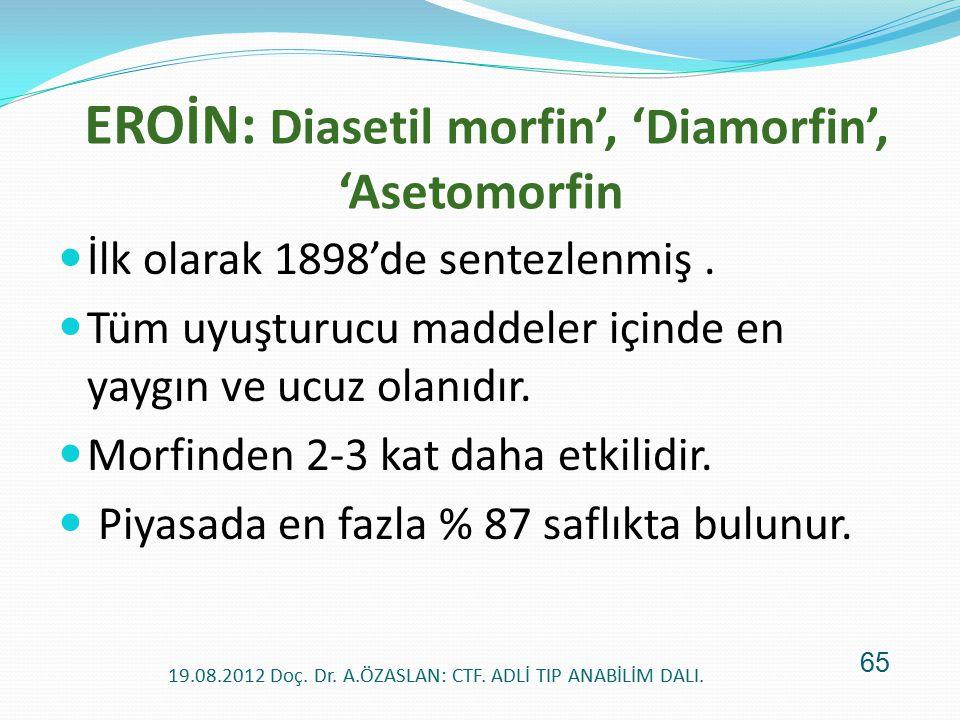 EROİN: Diasetil morfin', 'Diamorfin', 'Asetomorfin