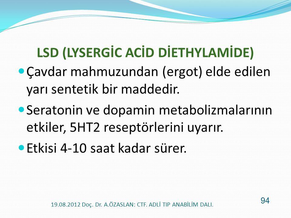 LSD (LYSERGİC ACİD DİETHYLAMİDE)