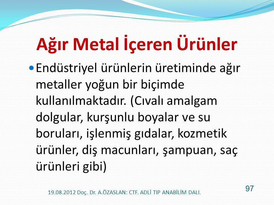 Ağır Metal İçeren Ürünler