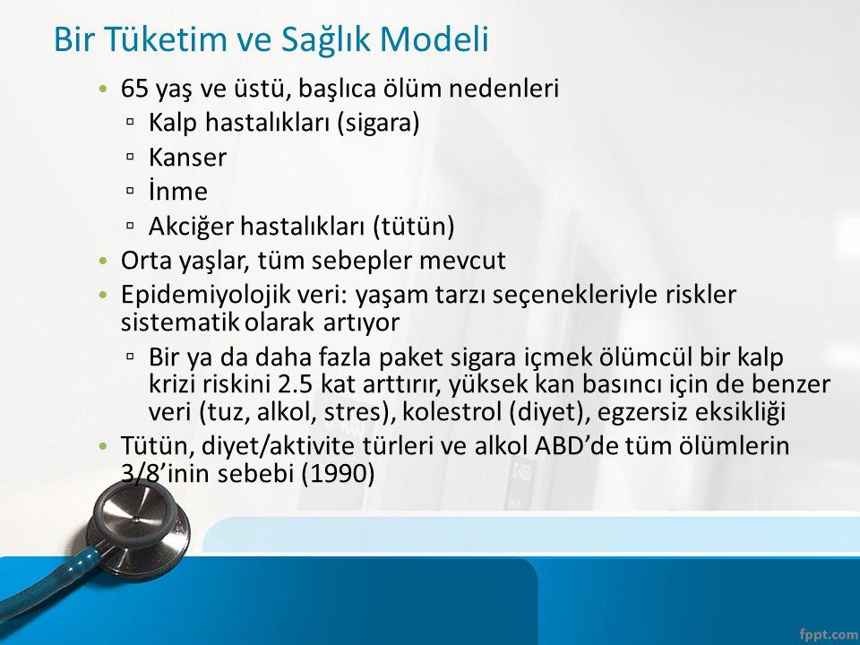 Bir Tüketim ve Sağlık Modeli