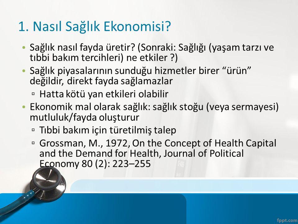 1. Nasıl Sağlık Ekonomisi