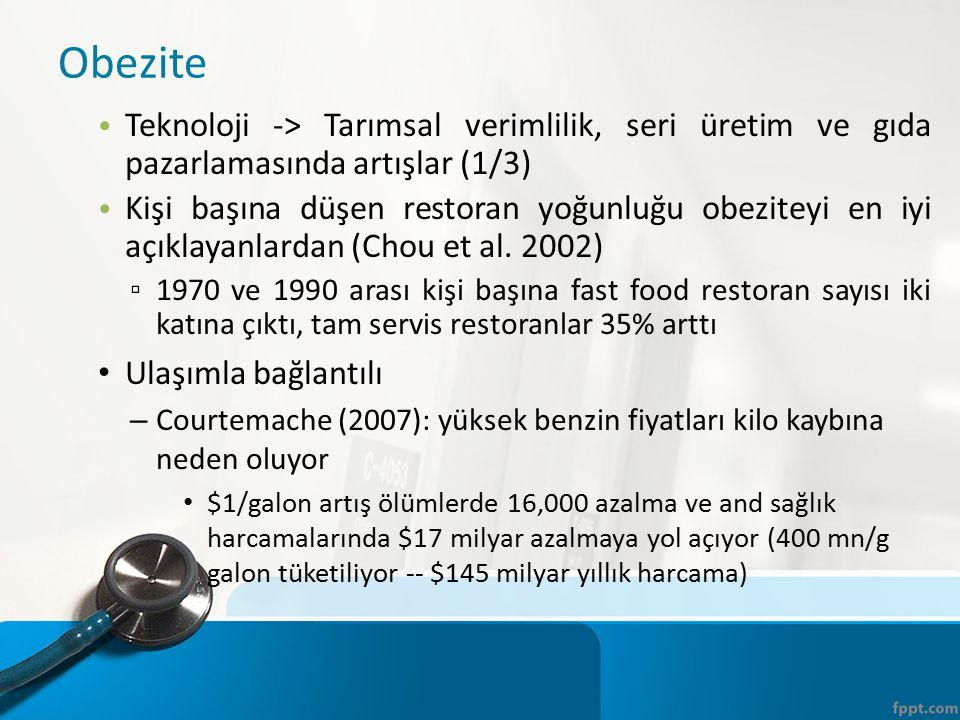 Obezite Teknoloji -> Tarımsal verimlilik, seri üretim ve gıda pazarlamasında artışlar (1/3)
