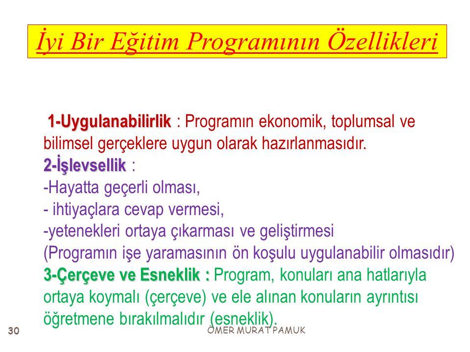 İyi Bir Eğitim Programının Özellikleri