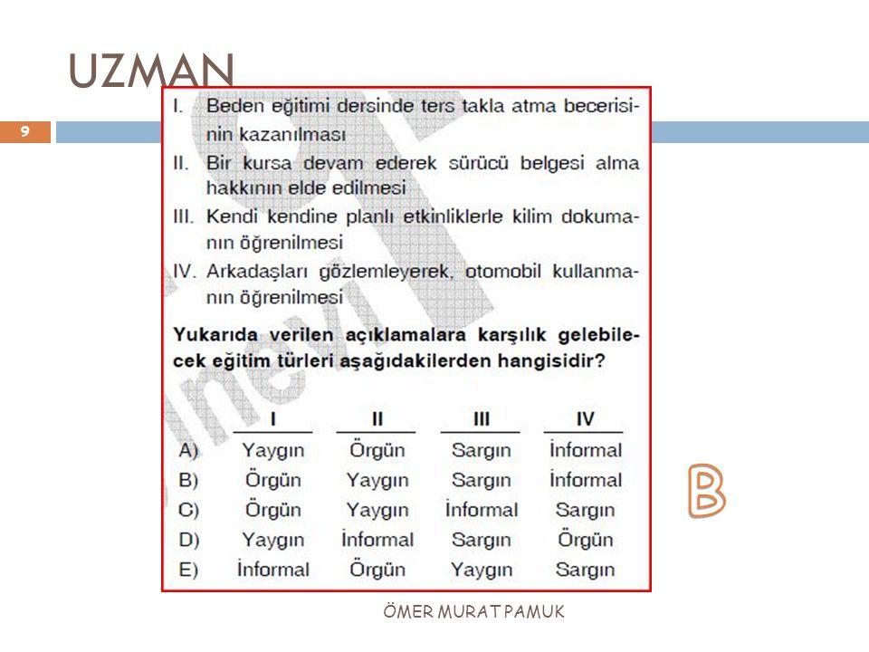 UZMAN B ÖMER MURAT PAMUK