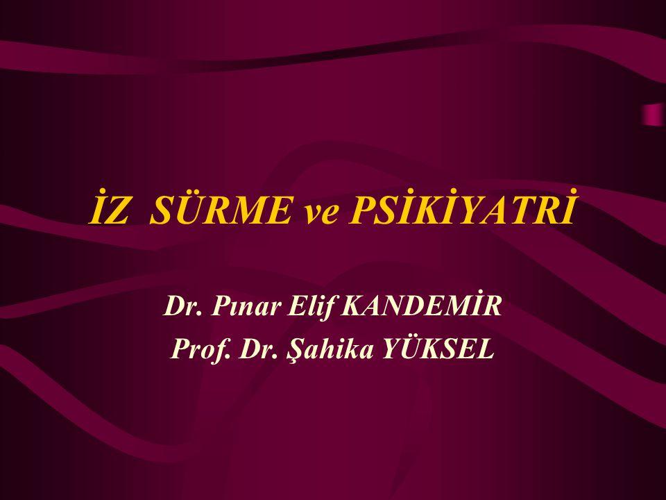 Dr. Pınar Elif KANDEMİR Prof. Dr. Şahika YÜKSEL