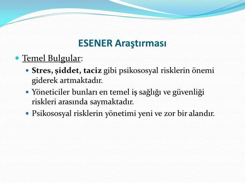 ESENER Araştırması Temel Bulgular: