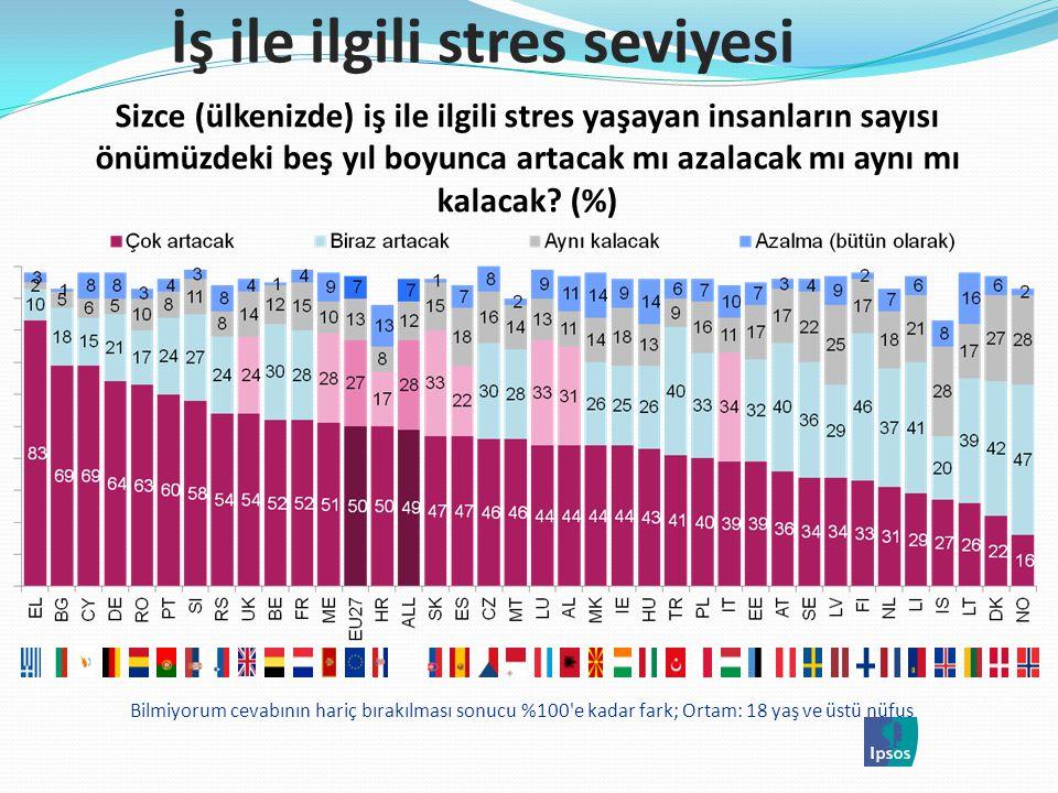İş ile ilgili stres seviyesi