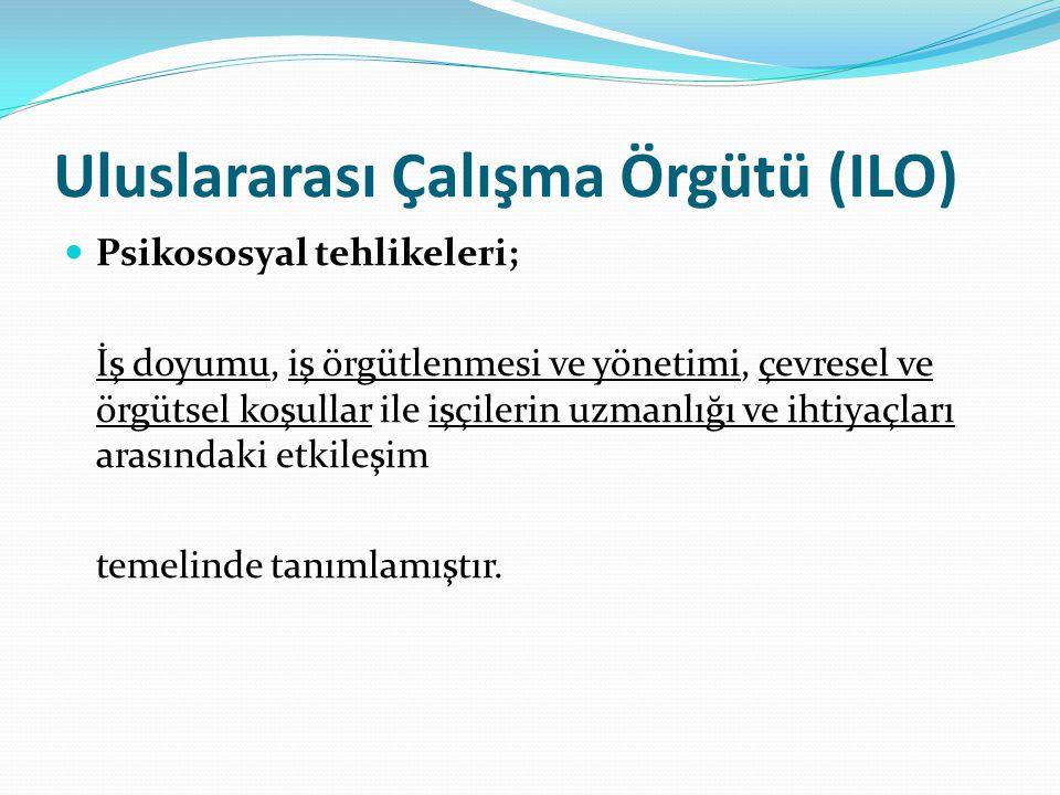 Uluslararası Çalışma Örgütü (ILO)