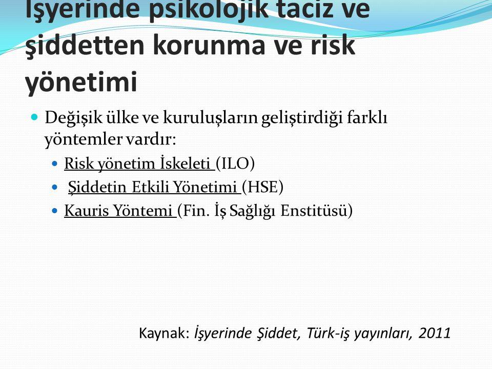 İşyerinde psikolojik taciz ve şiddetten korunma ve risk yönetimi