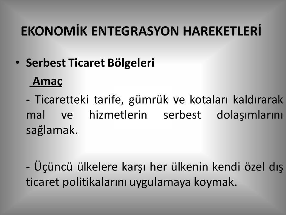EKONOMİK ENTEGRASYON HAREKETLERİ