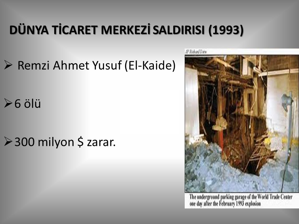 DÜNYA TİCARET MERKEZİ SALDIRISI (1993)