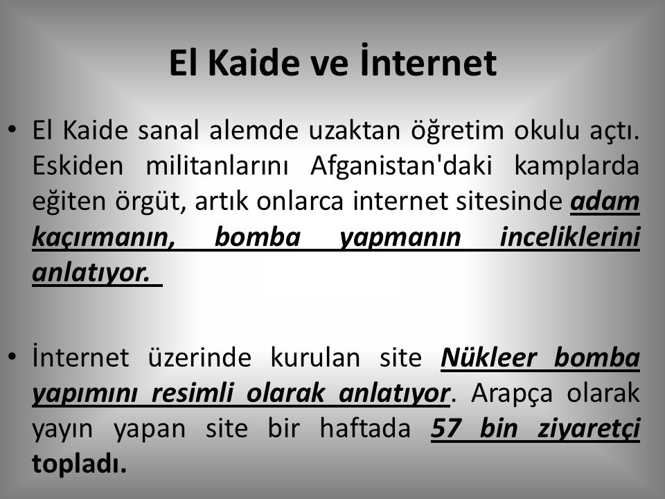 El Kaide ve İnternet