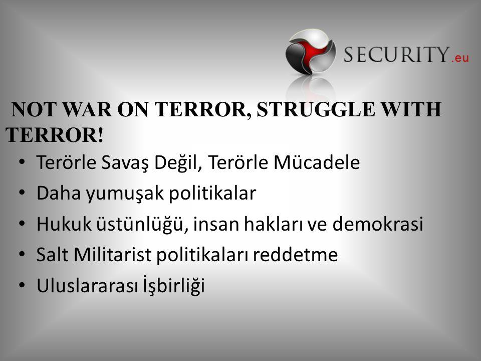NOT WAR ON TERROR, STRUGGLE WITH TERROR!