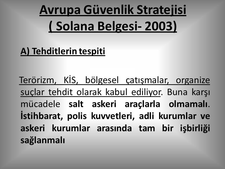 Avrupa Güvenlik Stratejisi ( Solana Belgesi- 2003)
