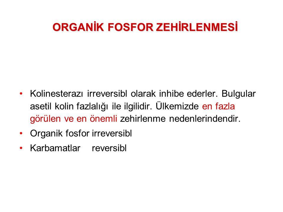 ORGANİK FOSFOR ZEHİRLENMESİ
