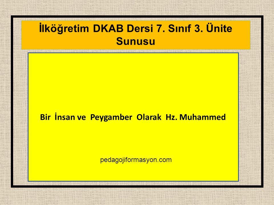 İlköğretim DKAB Dersi 7. Sınıf 3. Ünite Sunusu