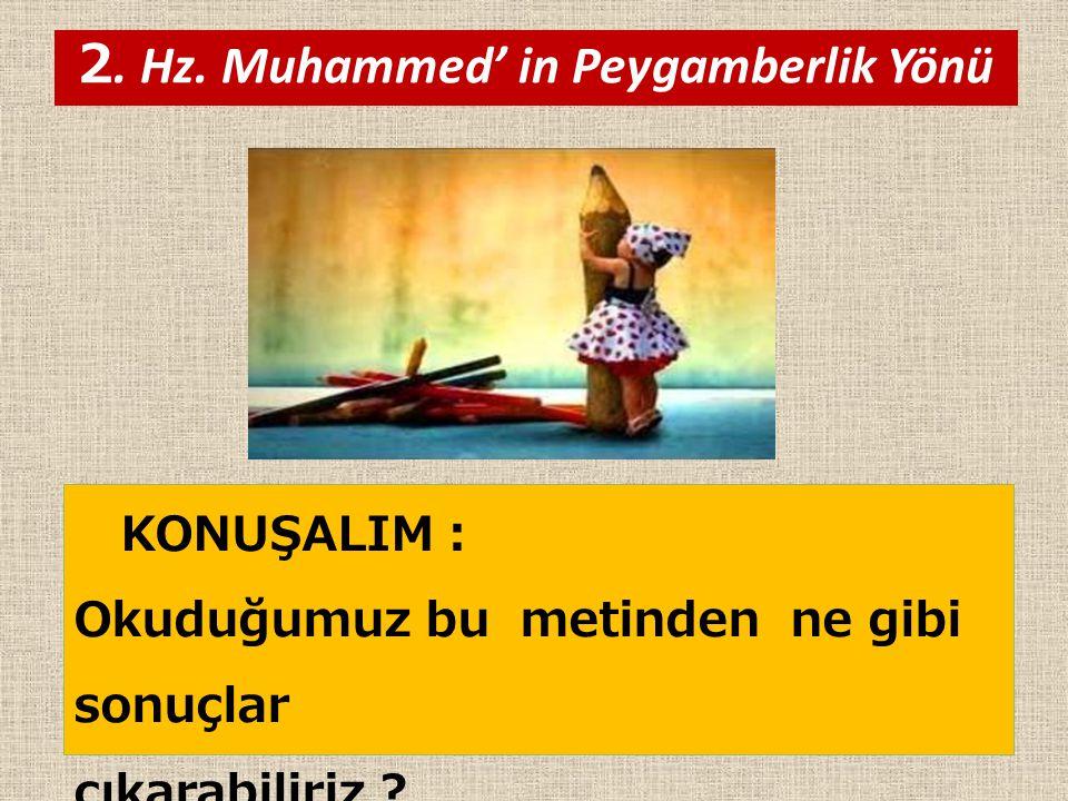 2. Hz. Muhammed' in Peygamberlik Yönü