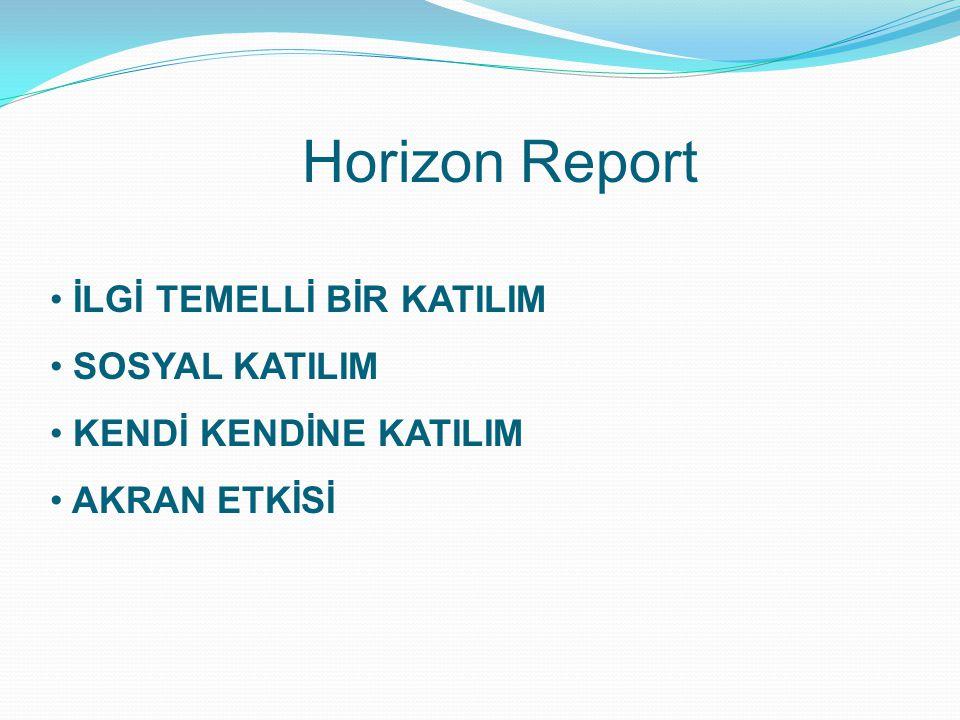 Horizon Report İLGİ TEMELLİ BİR KATILIM SOSYAL KATILIM