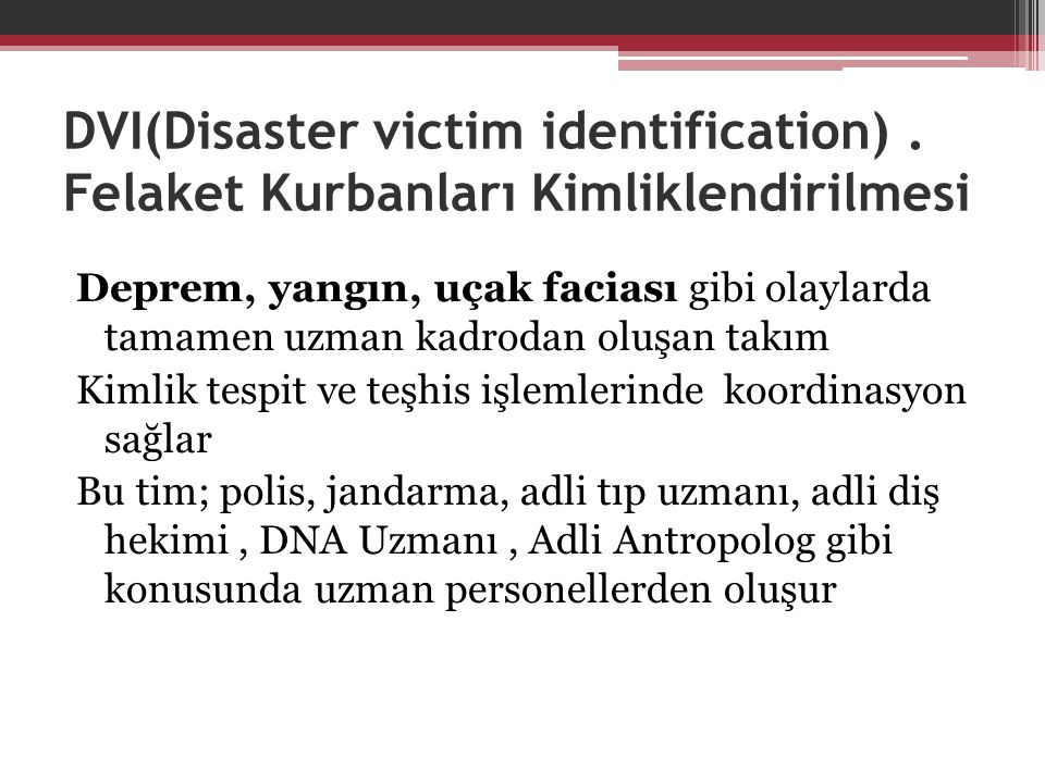 DVI(Disaster victim identification)
