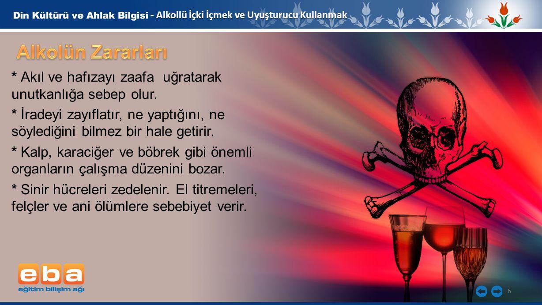 - Alkollü İçki İçmek ve Uyuşturucu Kullanmak
