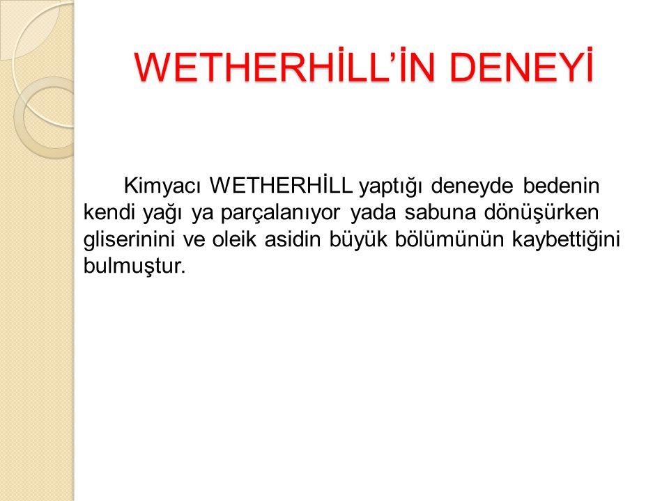 WETHERHİLL'İN DENEYİ