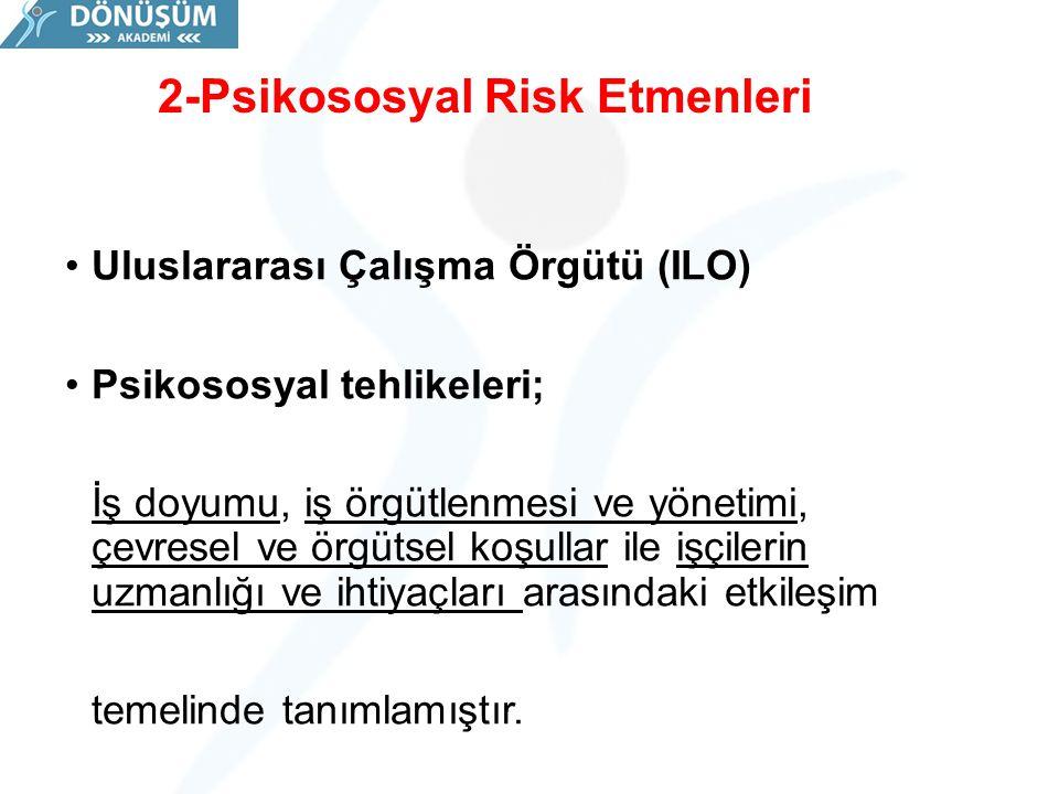 2-Psikososyal Risk Etmenleri