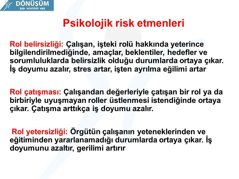 Psikolojik risk etmenleri