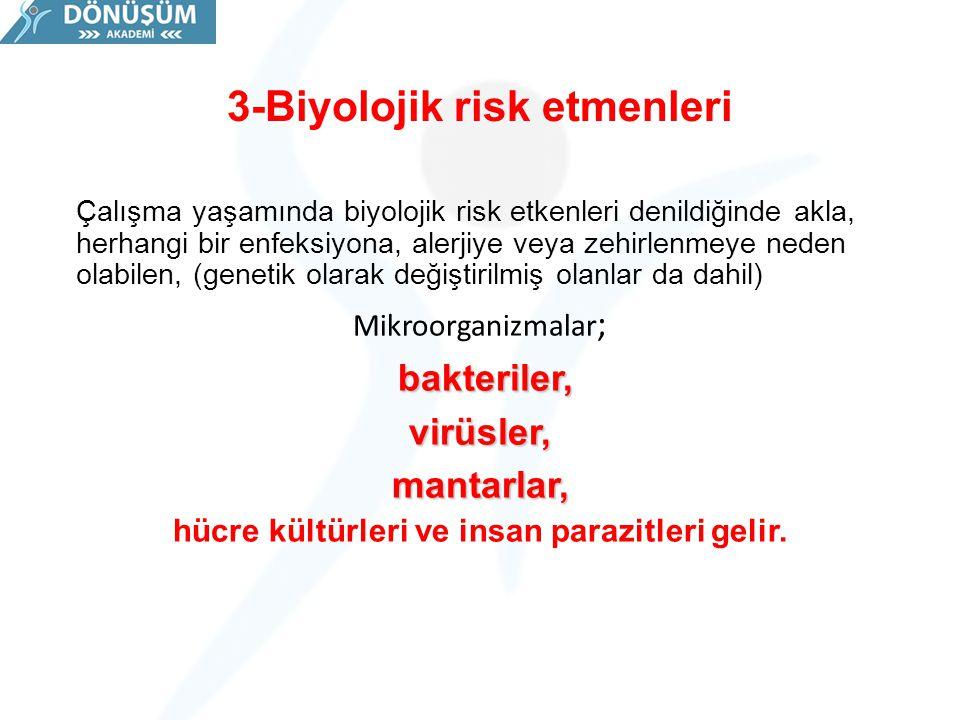 3-Biyolojik risk etmenleri