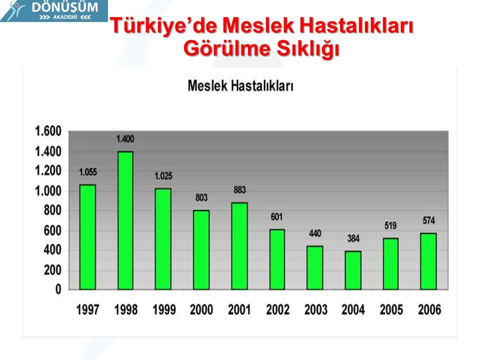 Türkiye'de Meslek Hastalıkları Görülme Sıklığı