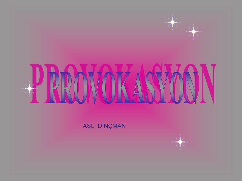PROVOKASYON ASLI DİNÇMAN