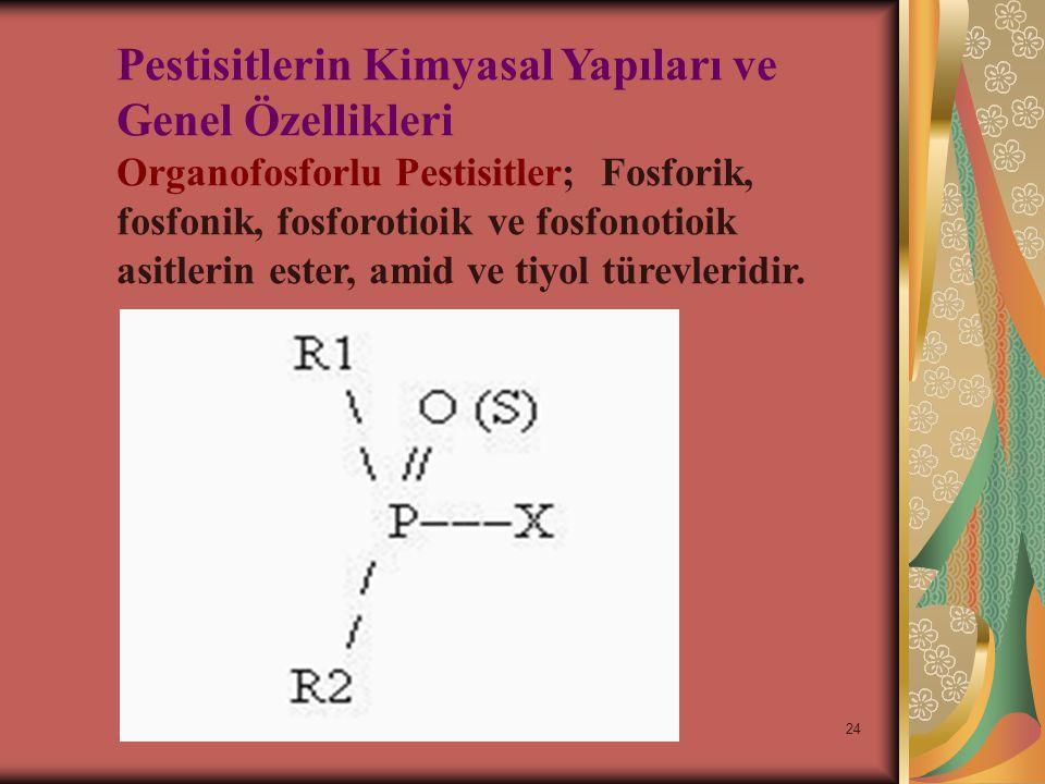 Pestisitlerin Kimyasal Yapıları ve Genel Özellikleri