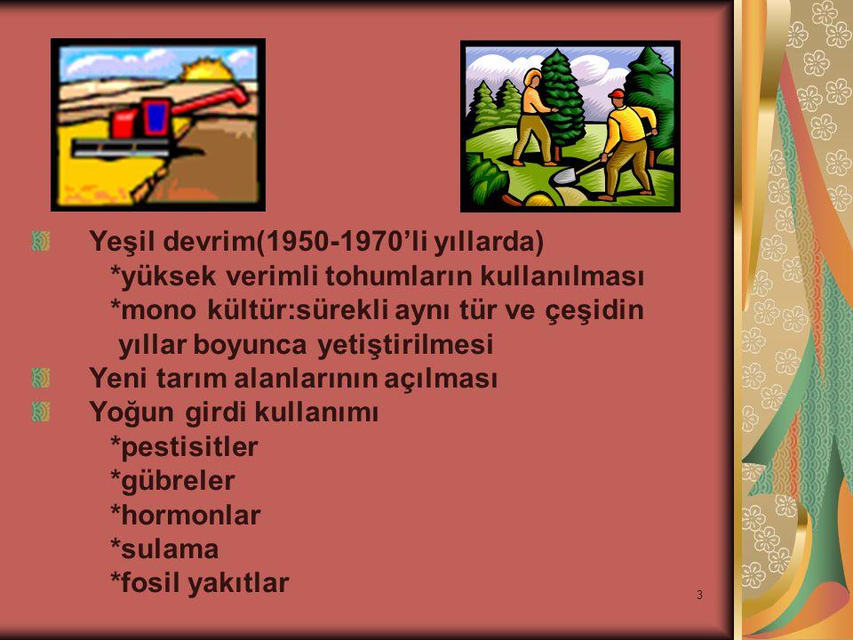 Yeşil devrim(1950-1970'li yıllarda)