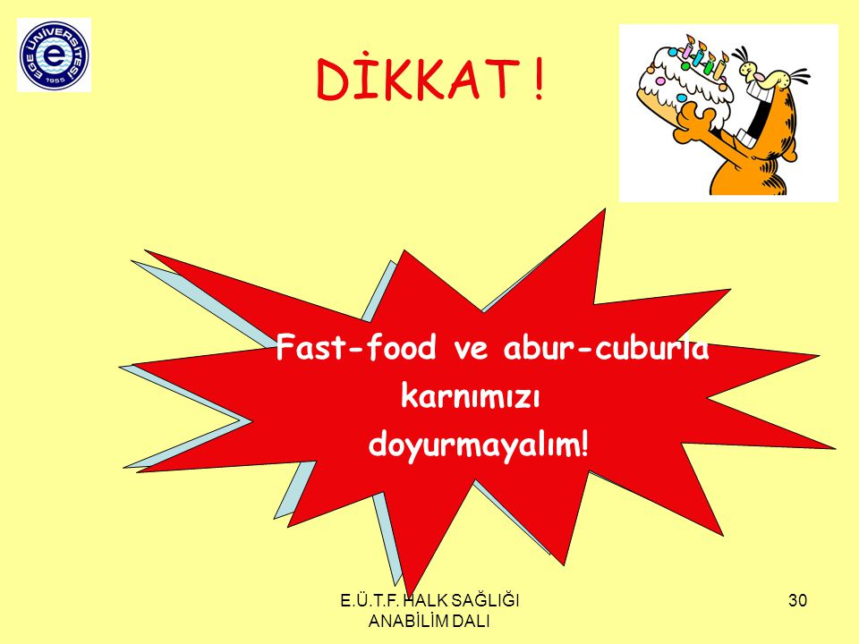 Fast-food ve abur-cuburla