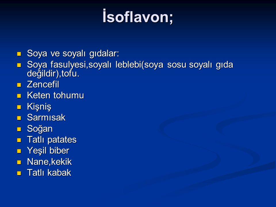 İsoflavon; Soya ve soyalı gıdalar: