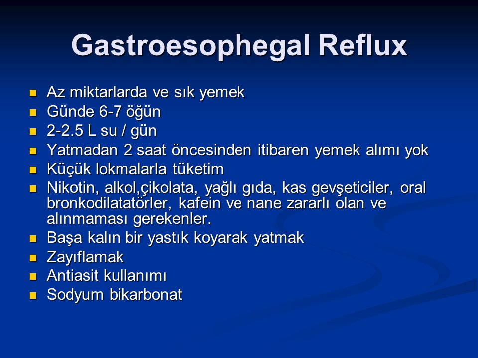 Gastroesophegal Reflux