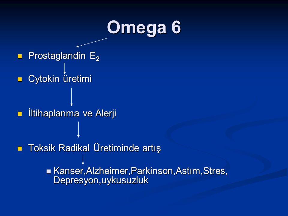 Omega 6 Prostaglandin E2 Cytokin üretimi İltihaplanma ve Alerji