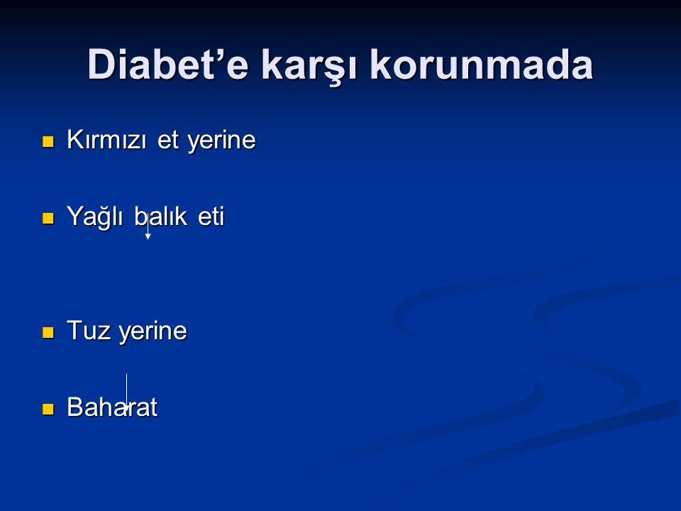 Diabet'e karşı korunmada