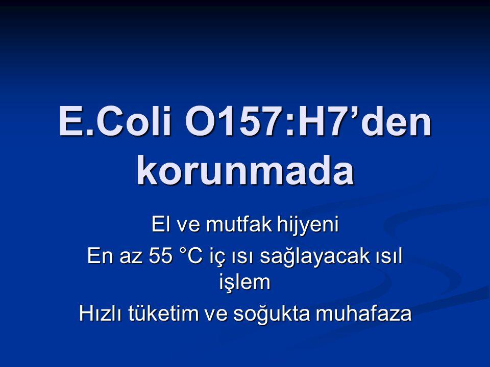 E.Coli O157:H7'den korunmada