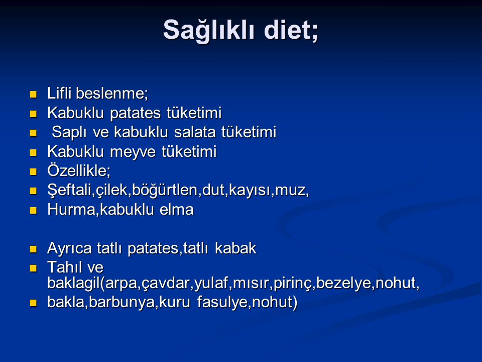 Sağlıklı diet; Lifli beslenme; Kabuklu patates tüketimi