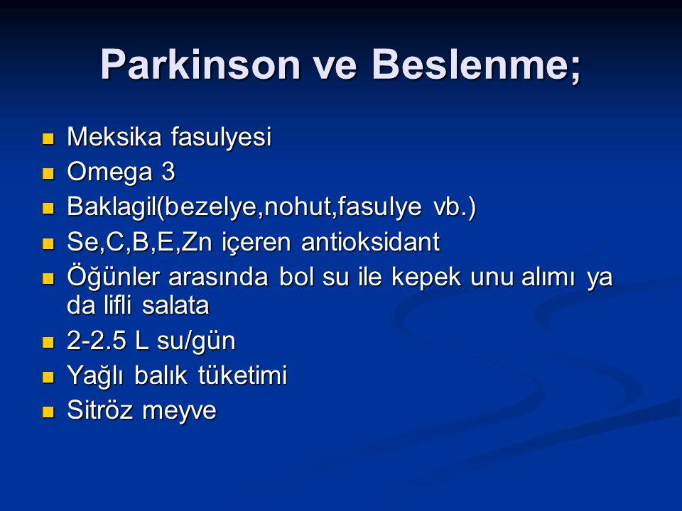 Parkinson ve Beslenme;