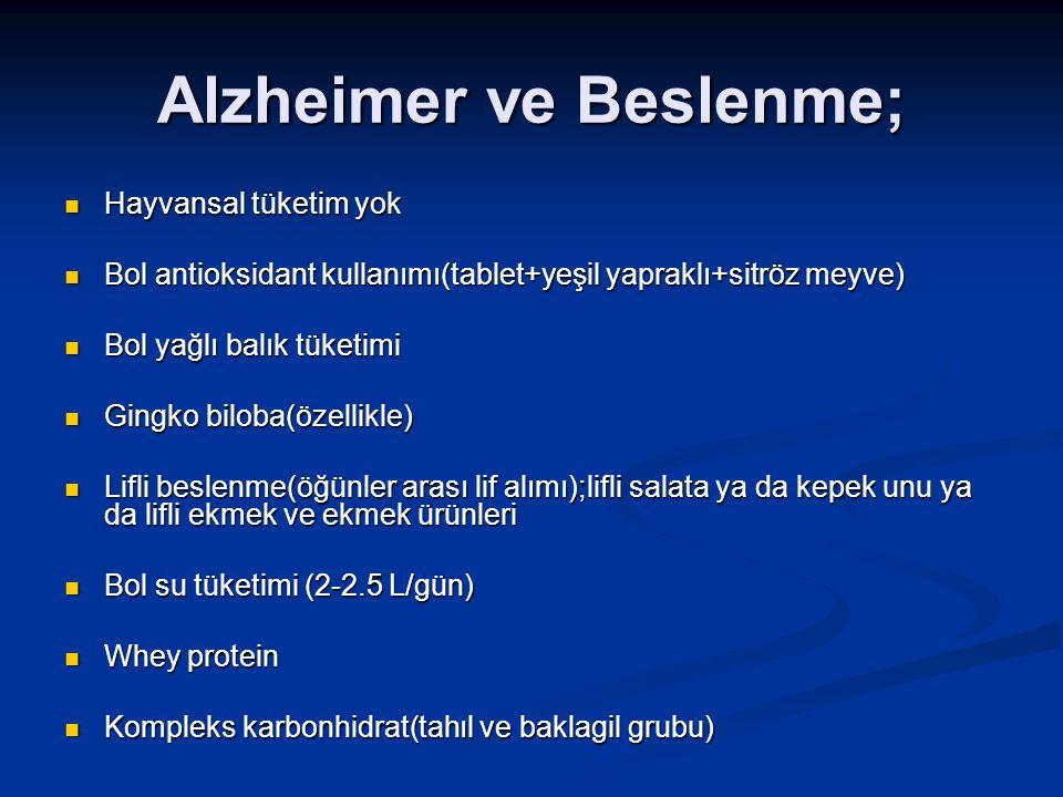 Alzheimer ve Beslenme;