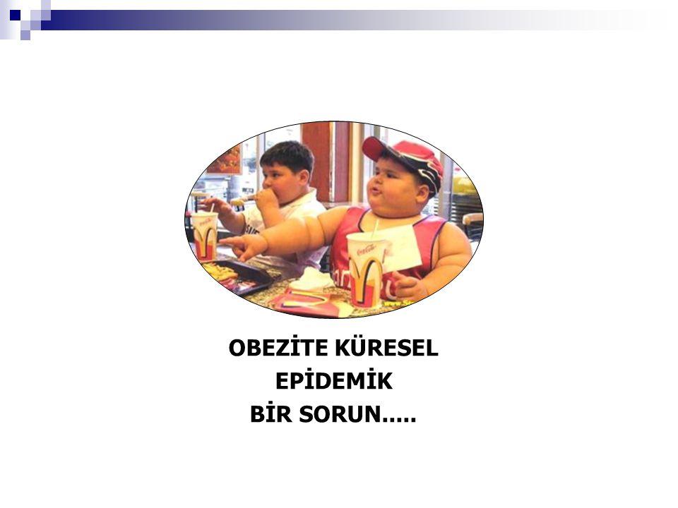 OBEZİTE KÜRESEL EPİDEMİK BİR SORUN.....