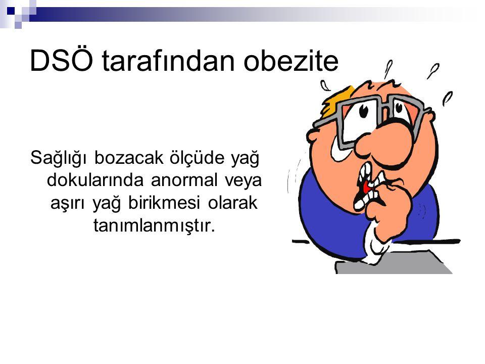 DSÖ tarafından obezite