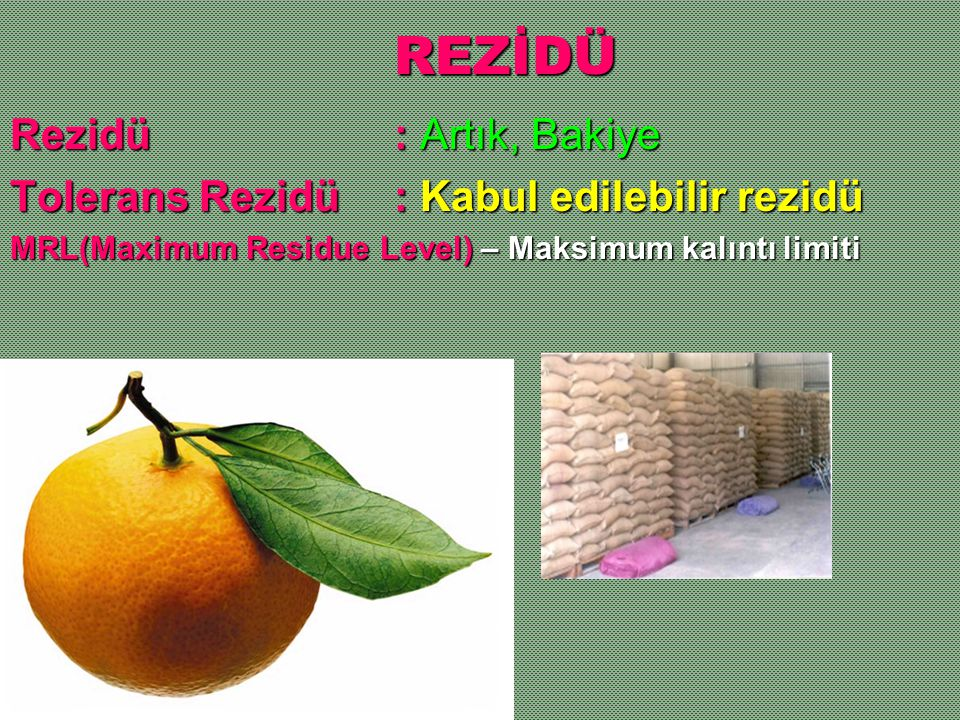 REZİDÜ Rezidü : Artık, Bakiye
