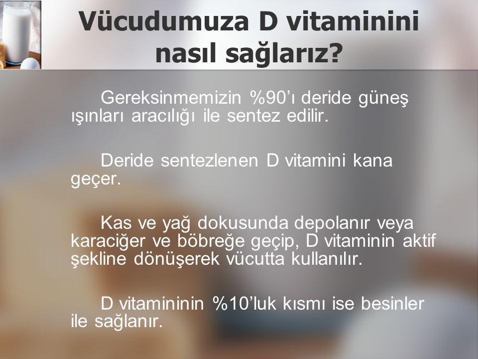 Vücudumuza D vitaminini nasıl sağlarız